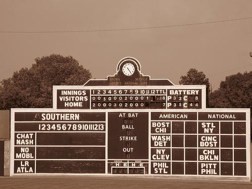 Extra Innings & Manual Scoreboard @ Rickwood Field